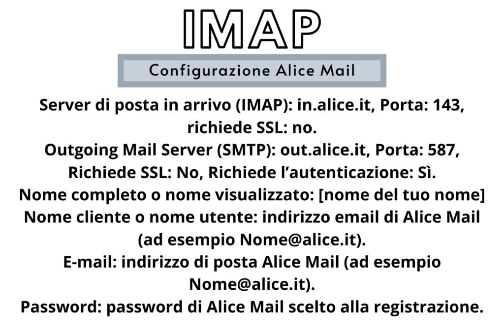 configurazione alice mail IMAP